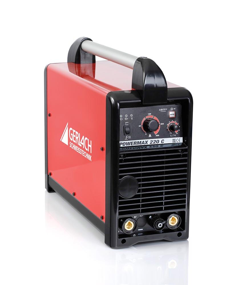 Die Gerlach POWERMAX 220C ist hervorragend für das DC WIG Schweissen geeignet.