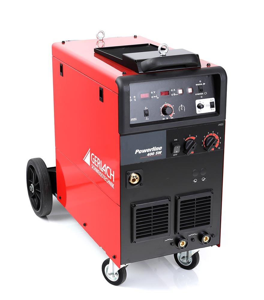 Professionelle MIG MAG Schweißanlage mit Synergicsteuerung zum Schweißen von 30 – 400 A in wassergekühlter Ausführung.