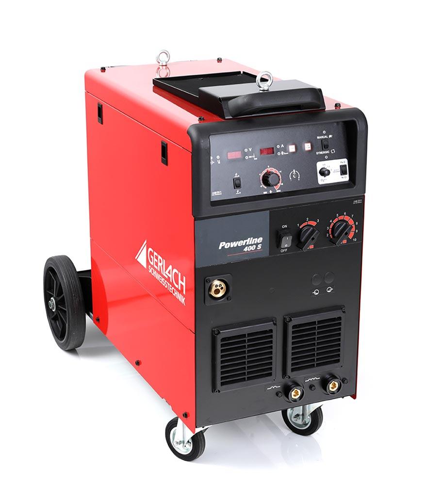 Professionelle MIG MAG Schweißanlage mit Synergicsteuerung zum Schweißen von 30 – 400 A