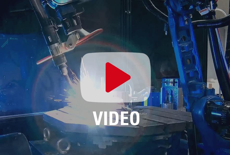 Durch einen Schweißroboter an der richtigen Stelle der Produktionskette, kann die Produktivität erheblich gesteigert werden.