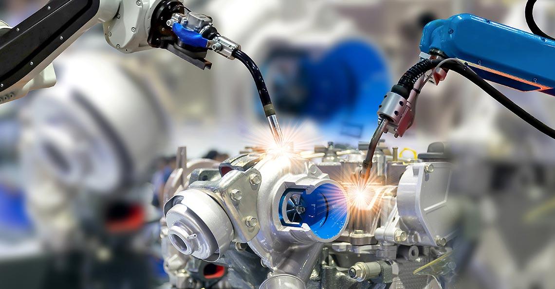 Automatisierte Serienfertigung mit Roboterschweissen und Schweissautomation