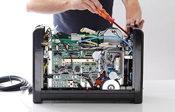 Nur einsatzbereite Schweissgeräte und intakte Produktionsanlagen sorgen für Umsatz und Erträge.